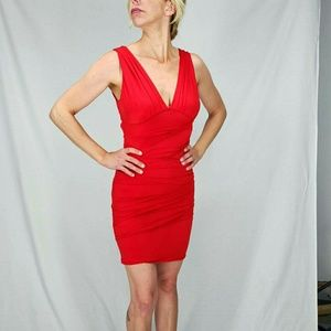Dresses & Skirts - Red Bodycon Dress / Club Dress Size Med.